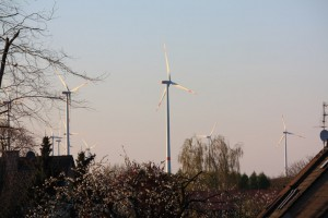 Die Windräder werden auch zukünftig für Königshoven Energie erzeugen...