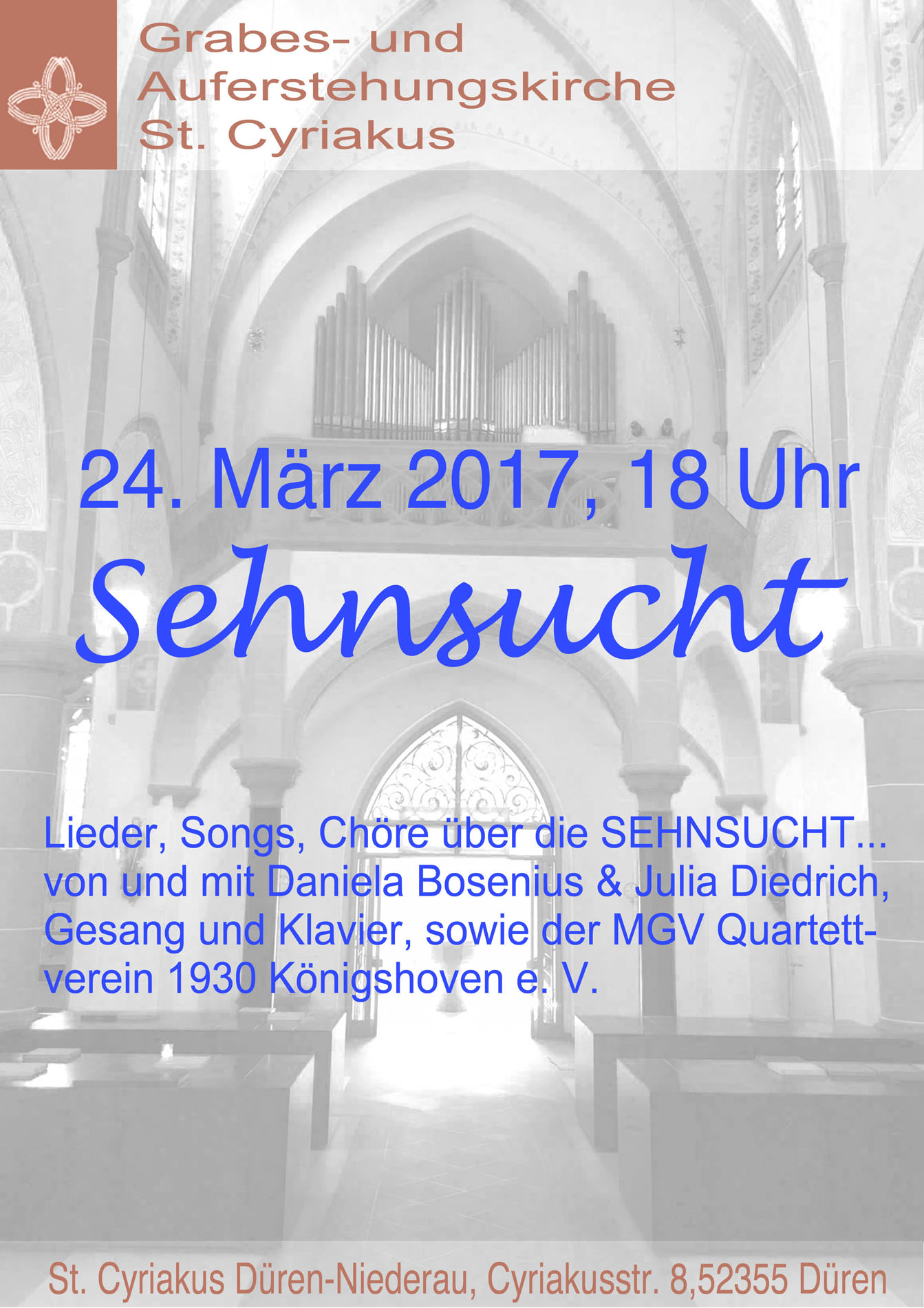 Quartettverein Königshoven lädt nach Düren-Niederau zum Musik ...