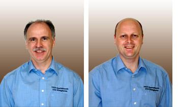 Erik Krommus (links) tritt zum 31.07.2013 als 1. Vorsitzender zurück. Der kommissarische 1. Vorsitz übernimmt Manfred Speuser. [Fotos: Bastian Schlößer]