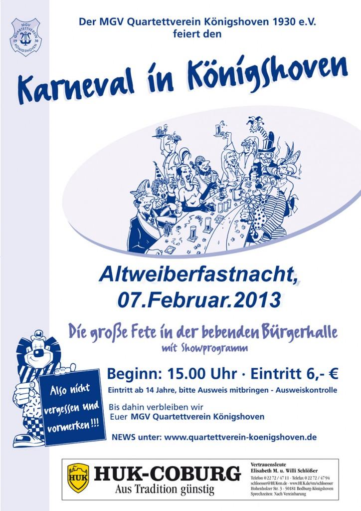 Karneval in Königshoven 2013