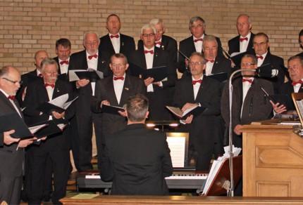 MGV Quartettverein 1930 Königshoven e. V. sorgte für die musikalische Gestaltung dieser Messe. [Foto: Bastian Schlößer]