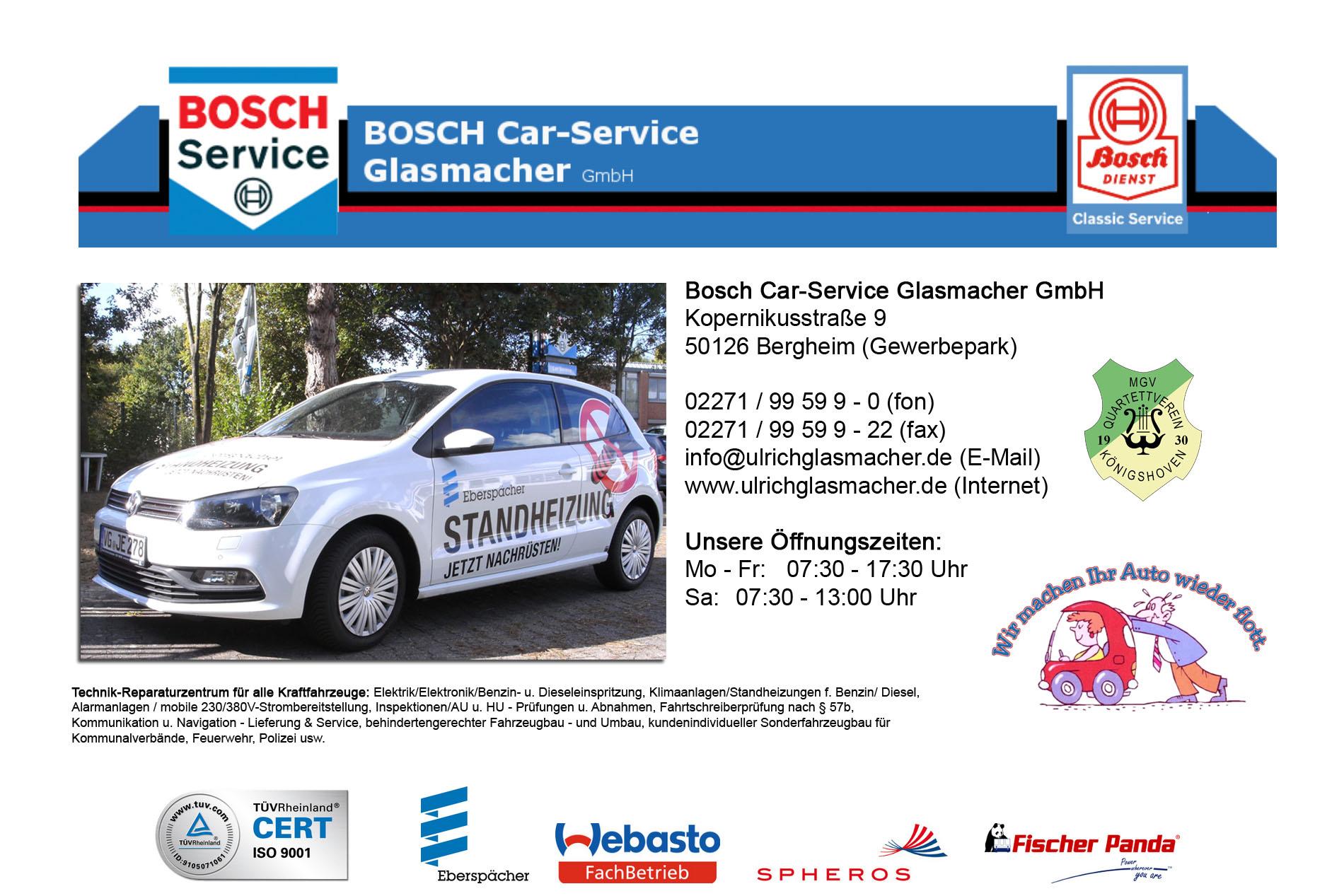 Bosch Car-Service GmbH Ulrich Glasmacher, Bergheim (Gewerbepark Paffendorf)