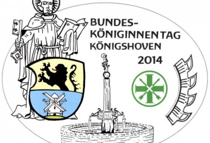 Wappen des Bundesköniginnentags 2014 in Königshoven.