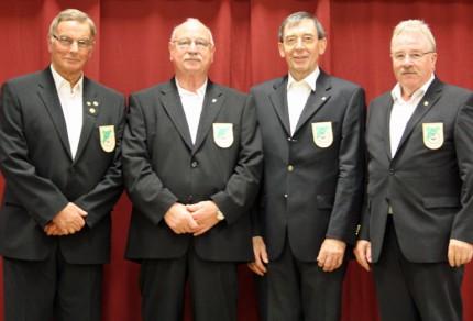 Hans Hurtz, Karl-Heinz Froitzheim, Hermann Josef Büskens und Matthias Maaßen nach ihrem Debut beim diesjährigen Herbstkonzert.