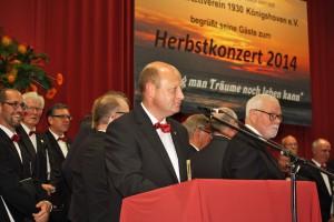 1. Vorsitzender Manfred Speuser freute sich über die zahlreichen Gäste aus Politik, Wirtschaft und Vereinswesen.