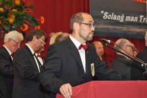 Moderator Björn Hackbarth freute sich über das finale 3 : 1.