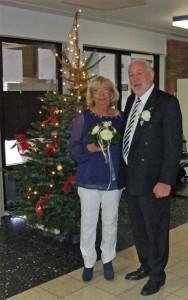 Das Brautpaar Willibert und Tine Düster am 6. Dezember 2014.