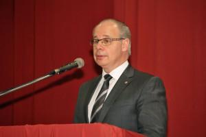 Dr. Georg Kippels (MdB) bei seiner Laudatio als Schirmherr des Festkommers. [Foto: Bastian Schlößer]