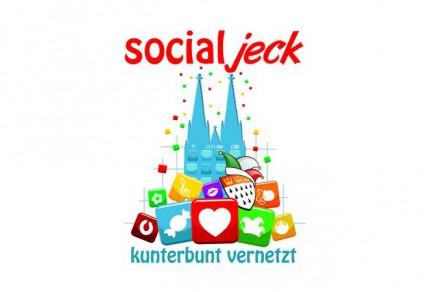 """Das Karnevalsmotto der Session 2015: """"Social jeck - kunterbunt vernetzt"""" (Quelle: Festkomitee Kölner Karneval - www.koelnerkarneval.de)"""