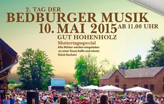 """Am 10. Mai 2015 findet zwischen 11:00 und 17:00 Uhr der """"2. Tag der Bedburger Musik"""" auf """"Gut Hohenholz"""" statt. (© Eduard Hilger)"""