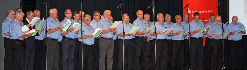 """Der MGV Quartettverein Königshoven hat das musikalische Programm bei der Preisverleihung des Wettbewerbs """"Wir für die Region Rhein-Erft"""" mitgestaltet. [Fotos: Bastian Schlößer]"""