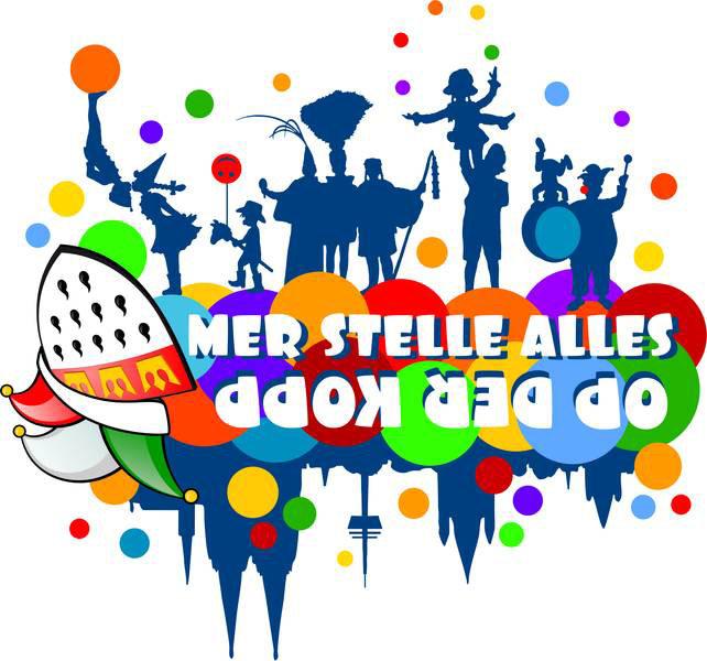 """Mer stelle alles op der Kopp"" lautet das Karnevalsmotto 2016 in Köln. [Grafik © 2016 - www.koelnerkarneval.de]"