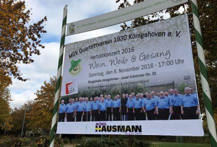 40 aktive Sänger des Quartettvereins trafen sich am vergangenen Freitag, um die letzten Feinschliffe für das bevorstehende Herbstkonzert vorzunehmen: Vereinsgeschichte! [Foto: Bastian Schlößer]