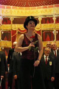Daniela Bosenius bei einer ihrer Soloeinlagen.