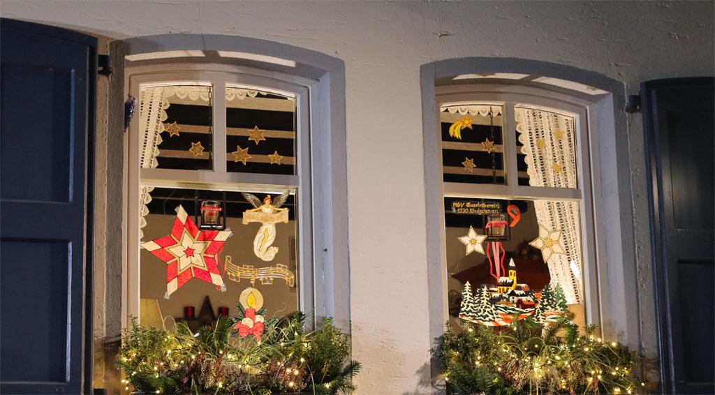 Das diesjährige Adventskalender Fenster Nummer 9 von Familie Bußmann.