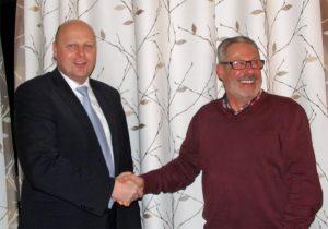 Theo van Peij (rechts) unterstützt ab sofort als stellvertr. Kassierer das Management-Team um Manfred Speuser.