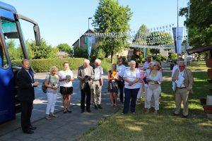Manfred Speuser hieß die Gäste der Bewertungskommission herzlich in Königshoven willkommen.
