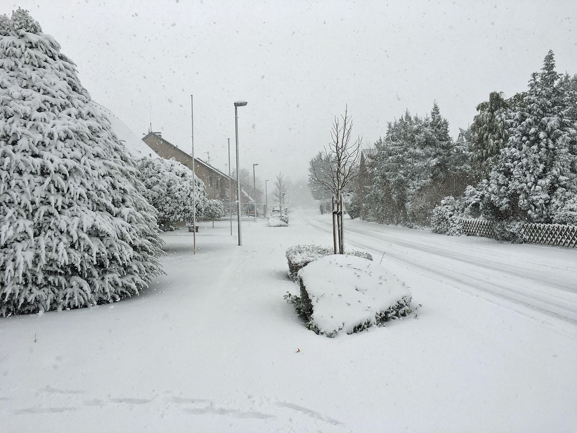 """Die starken Schneefälle am 2. Advents-Sonntag sorgten für die passende """"Winter Wonderland Stimmung""""."""