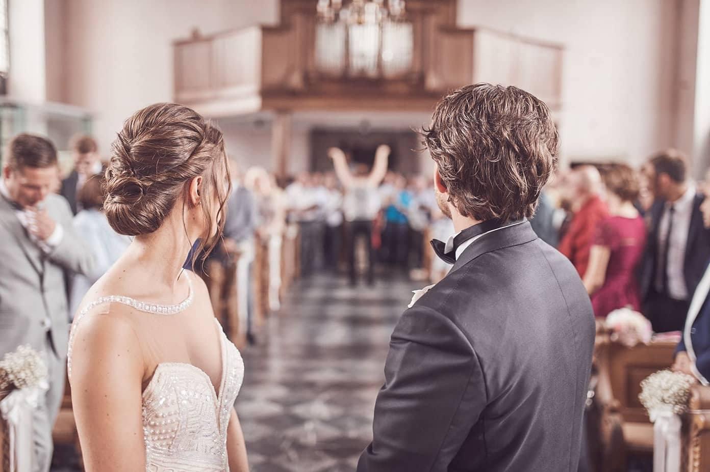 Festliche Momente, bei der musikalischen Gestaltung durch den MGV Quartettverein - darauf blickt auch das Brautpaar immer wieder gerne zurück.