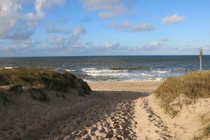Wenige Minuten vom Dorfhotel entfernt konnte der Strand von Rantum zu Fuß erreicht werden.