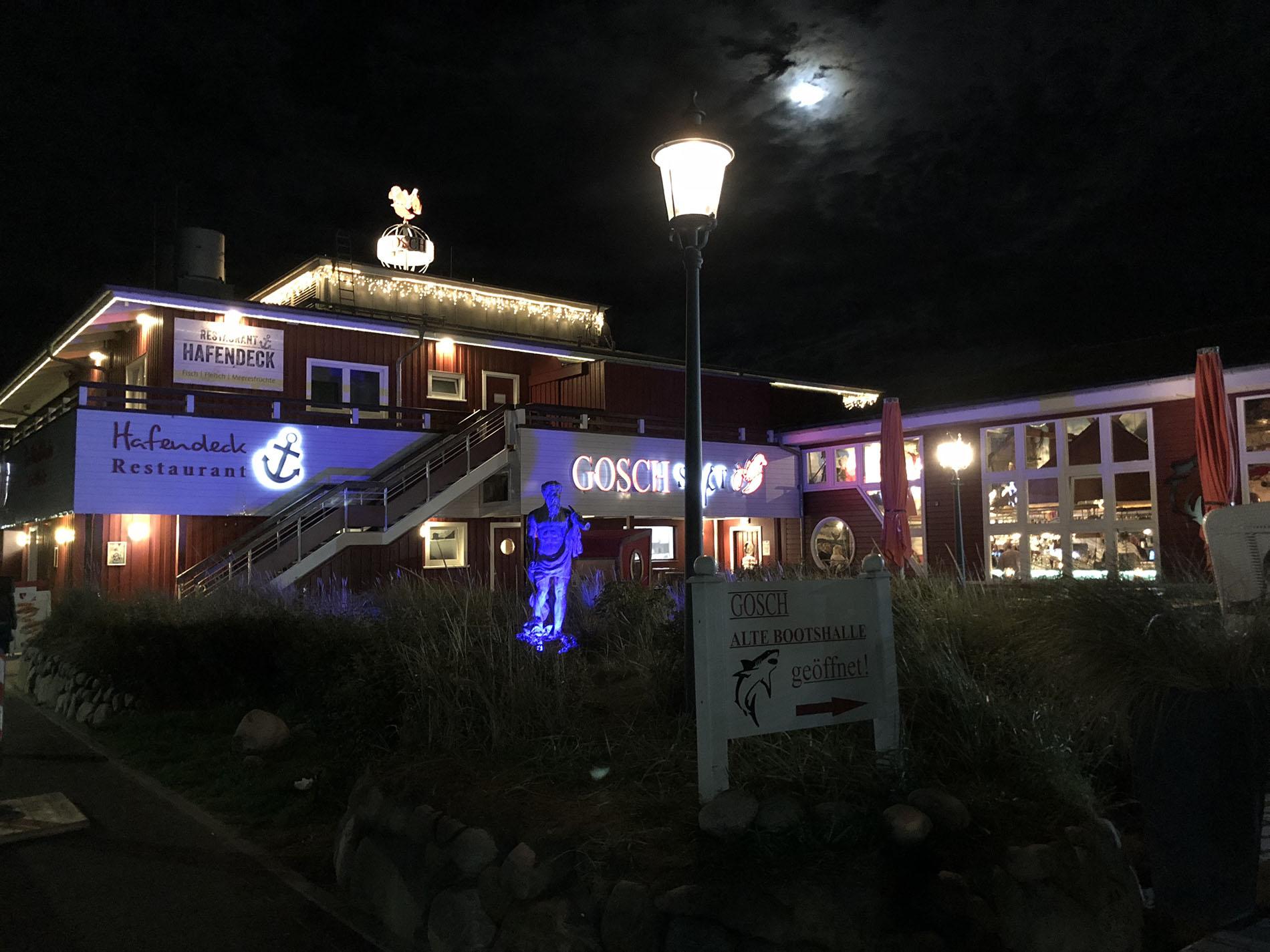 Die nördlichste Fischbude von Deutschland im Hafen List: GOSCH SYLT.