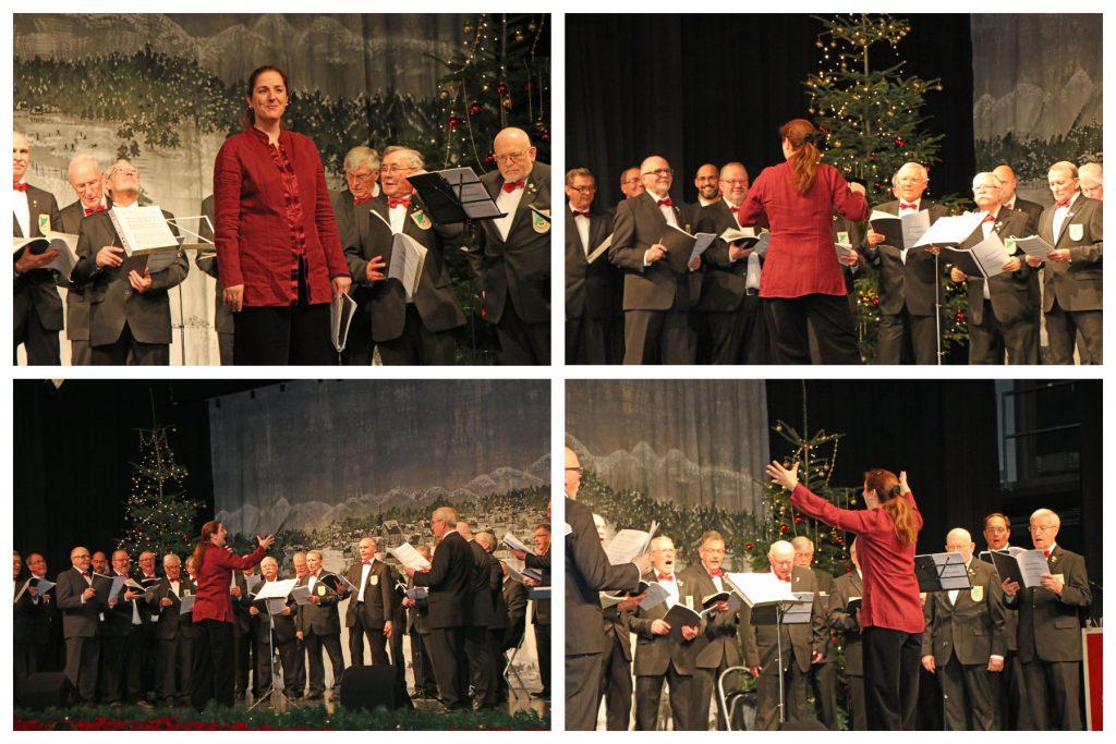 Der MGV Quartettverein 1930 Königshoven e. V. freute sich gemeinsam mit Chorleiterin Daniela Bosenius in diesem Jahr wieder auf der Bühne in der Erfthalle stehen zu dürfen.