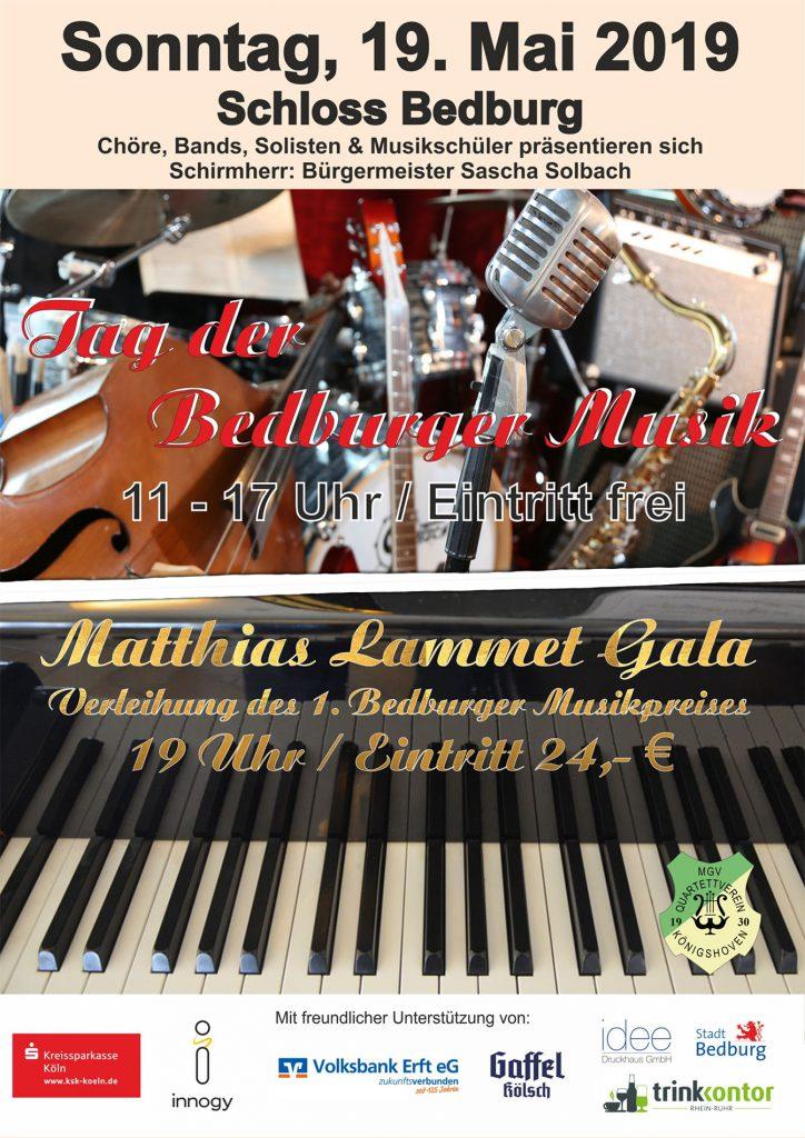 "Offizielles Event-Plakat des ""Tag der Bedburger Musik"" 2019"