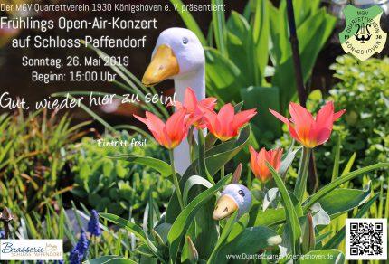 """Am 26. Mai 2019 lädt der Königshovener MGV auf Schloss Paffendorf nach Bergheim ein und präsentiert bei freiem Eintritt sein Frühlings Open-Air-Konzert unter dem Motto """"Gut, wieder hier zu sein!"""" (Fotos: Bastian Schlößer)"""