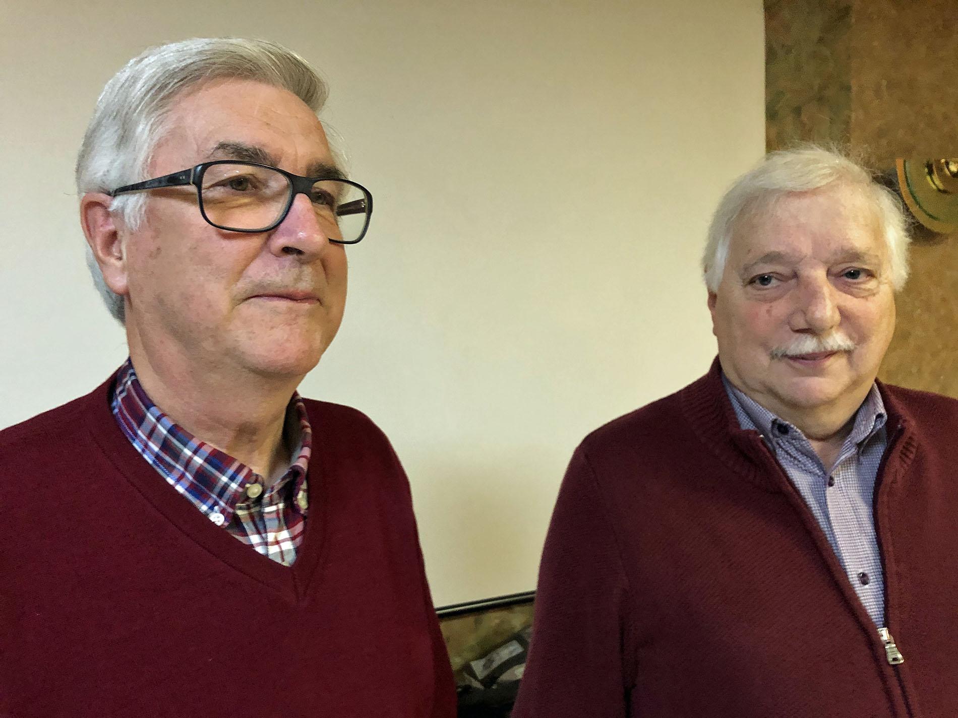 1. Tenor Herbert Jobs und 2. Bass Willi Demond aus der Kolpingstadt Kerpen unterstützen seit dem 29. November 2019 die Reihen des MGV Quartettverein Königshoven aktiv und freuen sich schon auf die gemeinsame musikalische Zeit. (Foto: Willi Schlößer)
