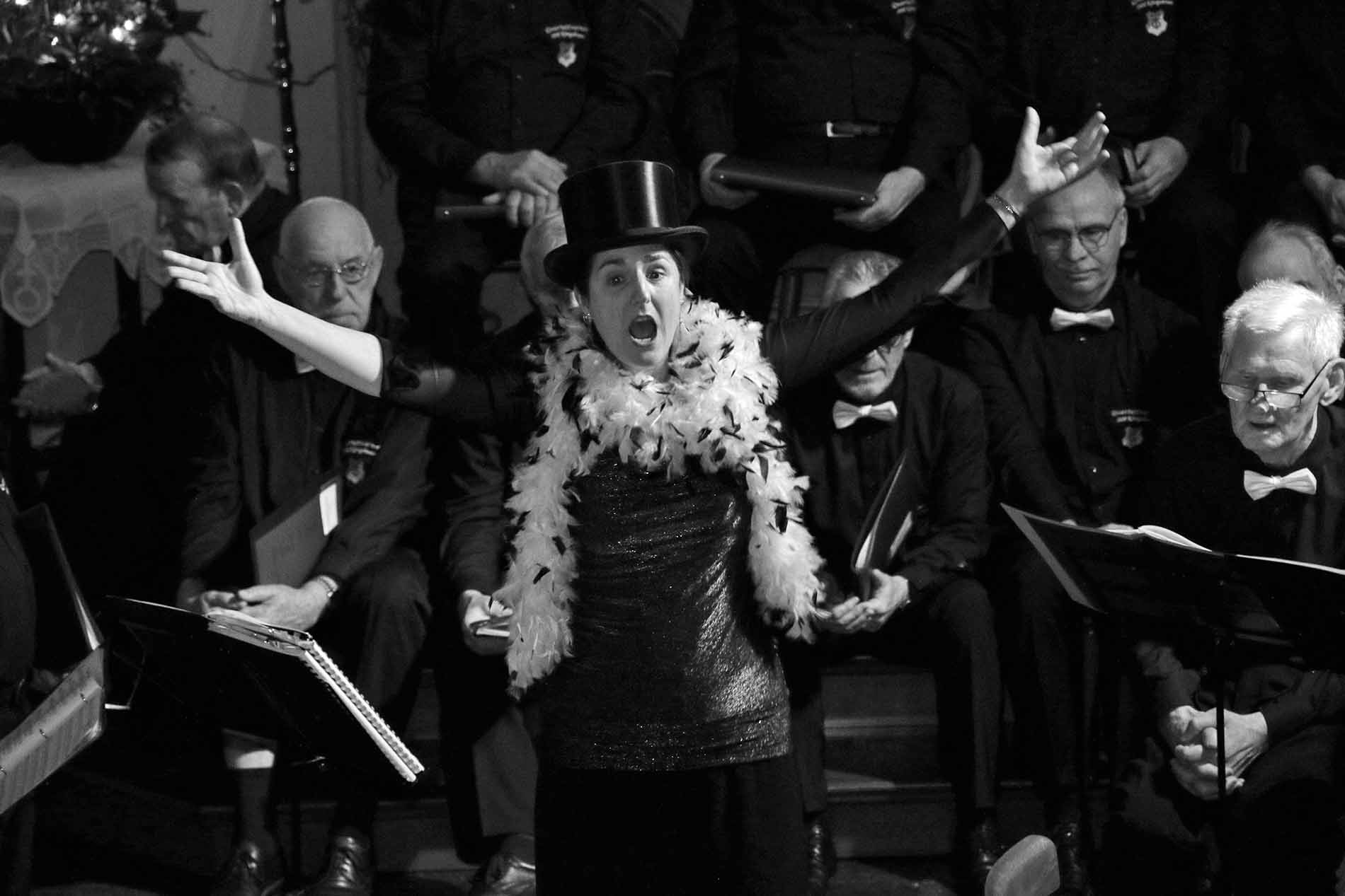 """Daniela Bosenius bei """"Cabaret"""" machte die Kulturkirche kurzerhand zum Friedrichshain Palast Berlin."""