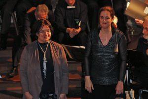 Julia Diedrich und Daniela Bosenius freuten sich über ein grandioses Publikum an diesem Abend.