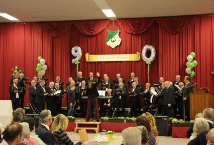 Die musikalische Festrevue während des Festkommers am 18. Januar 2020 gestaltete der MGV Quartettverein 1930 Königshoven e. V. mit Chorleiterin Daniela Bosenius. (Fotos: Bastian Schlößer)