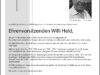 MGV Quartettverein trauert um seinen Ehrenvorsitzenden Willi Held